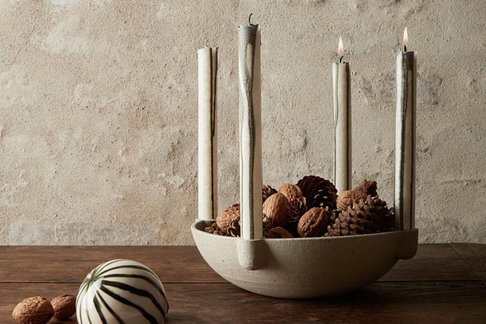 """Adventskranz """"Bowl"""" von Ferm Living aus Keramik"""
