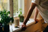 Duftkerze von Ikea auf einer Fensterbank
