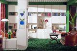 """Wohnzimmer in den 1960er Jahren mit Hülstas Anbauprogramm """"Allwand"""""""