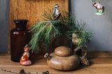 Glasschmuck für den Weihnachtsbaum: Specht und Fuchs von Käthe Wohlfahrt