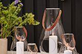 """Windlichter """"Design With Light"""" aus mundgeblasenem Glas und in drei unterschiedlichen Größen erhältlich"""