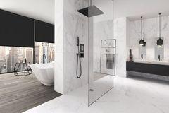 Luxuriöses Badezimmer mit Marmorfliesen von Steuler