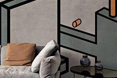 "Maßkonfigurierbare Grafik-Tapete ""Microcosmo"" von London Art"