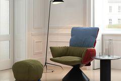"""Relaxsessel """"Lud'o Lounge"""" von Patricia Urquiola in Blau, Grün und Rot"""