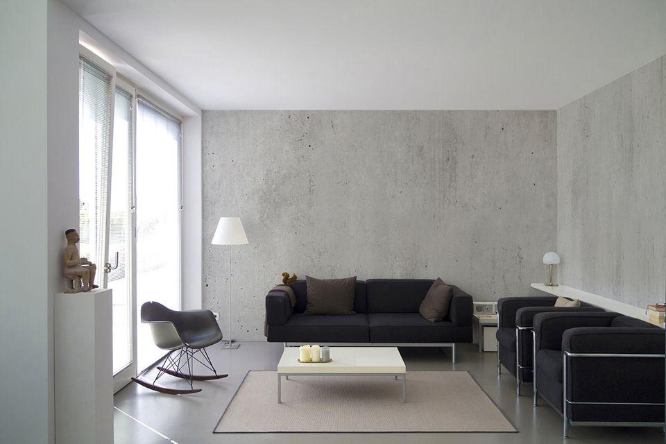 Betonwand Wohnzimmer