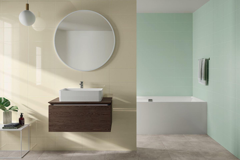 Farbige Fliesen fürs Bad