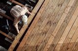 Holzterrasse im Bau