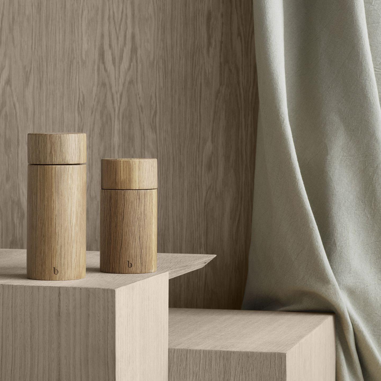 Salz- & Pfeffermühlen aus Eiche Natur von Broste Copenhagen