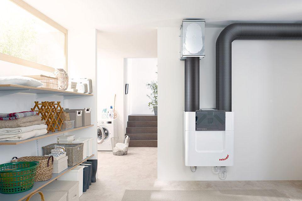 """Komfortable und effiziente Wohnraumlüftung mit dem Lüftungsgerät """"ComfoAir Q"""" von Zehnder"""