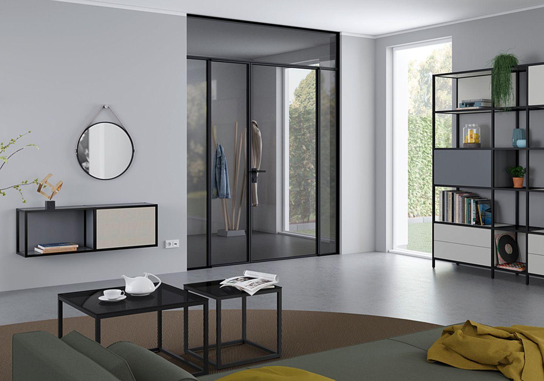 Lofttür aus Glas und Stahl von Raumplus.