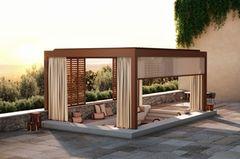 """Das Terrassendach-Modell """"Earth Oasis"""" aus der Outdoor-Living-Serie von Renson"""