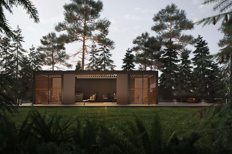 """Das Gartenpavillon-Modell """"Spiritual Harmony"""" aus der Outdoor-Living-Serie von Renson"""