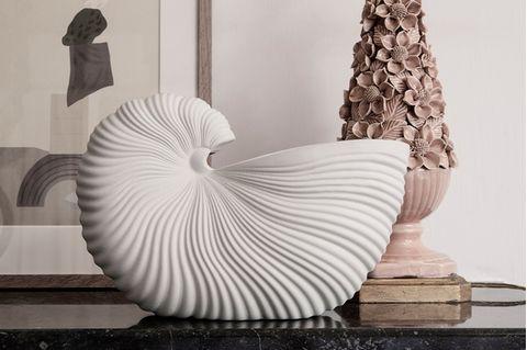 """Blumentopf """"Shell"""" in Form einer Muschel von Ferm Living"""