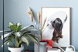 Wandfarbe Hellblau im Wohnzimmer, SCHÖNER WOHNEN-Farbe
