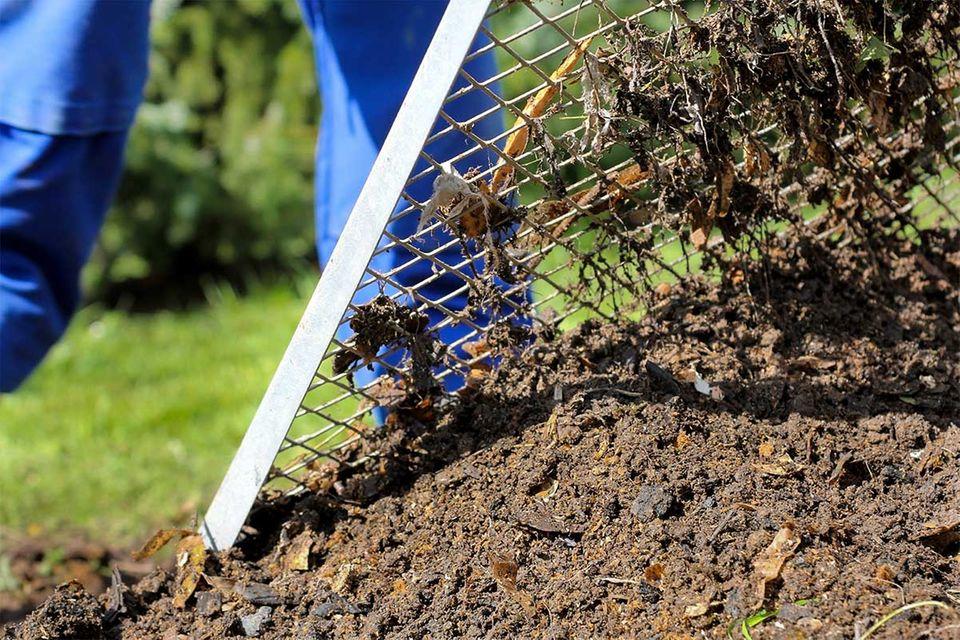Komposterde sieben