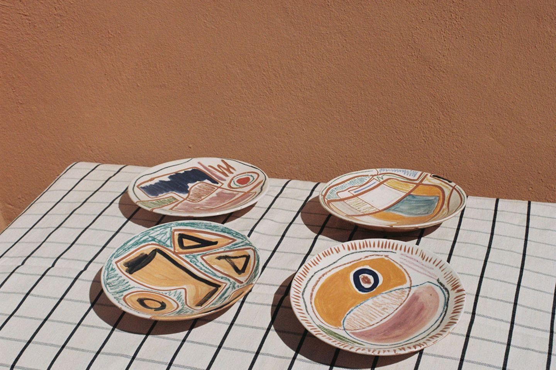 Handgemachtes Teller-Set von LRNCE