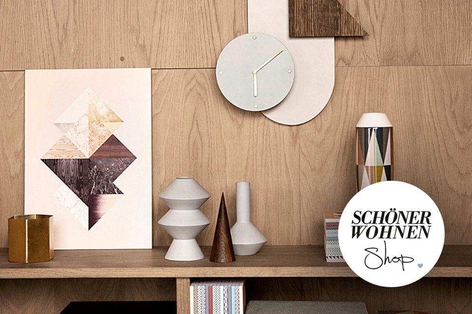 SCHÖNER WOHNEN-Shop Teaser Ferm Living Wanduhr Button