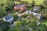 Dyffryn Fernant Garden von oben