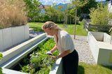 Haus Schliersee: Hochbeet im Garten
