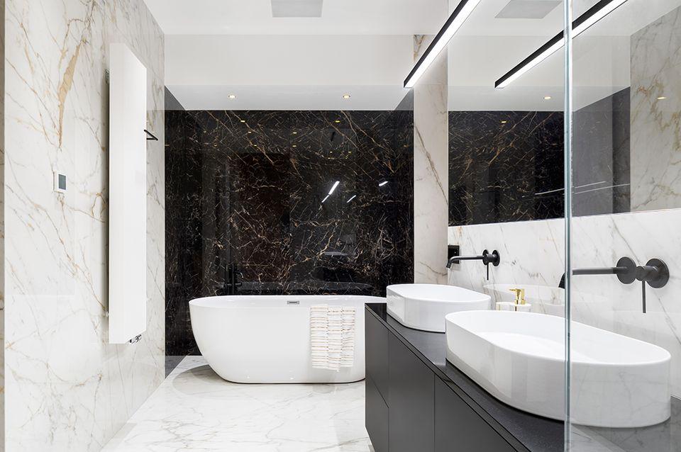 Marmorboden Badezimmer