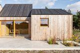 Bodenplatte aus Betonestrich als Terrasse