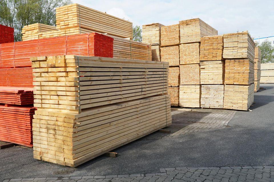 Begehrt:Konstruktionsvollholz wird besonders stark nachgefragt.