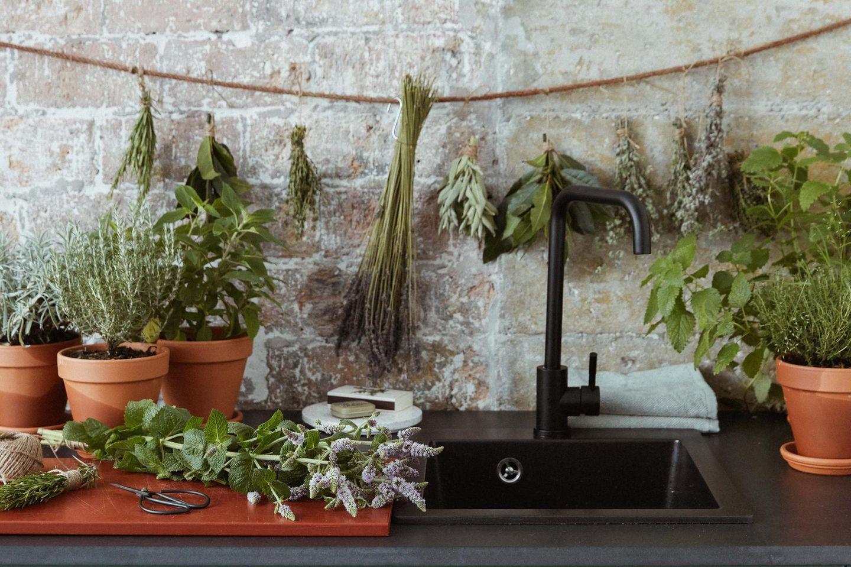 Die Anleitung für eine DIY-Kräutergirlande gibt es hier auf Pflanzenfreude.de