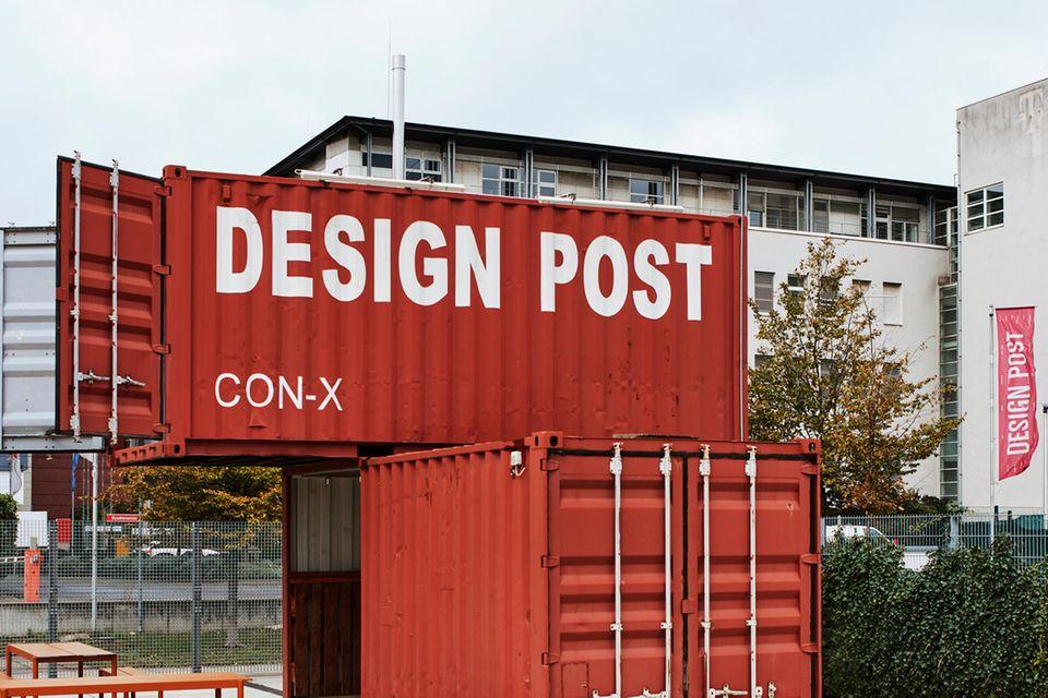 Design Post Days 2021 Container im Eingangsbereich