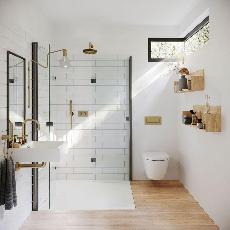 """Eine ebenerdige Dusche hat mehr zu bieten als bloße Schönheit:Die fehlenden Einstiegskanten erleichtern das Betreten, die Dusche ist dadurch behinderten- und altersgerecht. Sie ist außerdem leicht zu reinigen und weniger anfällig für Schimmel. Ob keramische Duschtasse, Fliesen oderhölzerner Rost mit Ablaufrinne – alles geht. Und das Beste:Ein durchgefliester Duschbereich und transparente Duschabtrennungen lassen das Bad großzügiger wirken. Aber Achtung: Wasserabfluss und Rohre liegen bei ebenerdigen Duschen im Boden. Das bedeutet, dass bei einem Umbau der Fußboden aufgeschlagen werden muss.    Bodenebene Dusche """"Cayonoplan Multispace"""" aus Stahlemaille, Preis auf Anfrage, www.kaldewei.de    Tipp:Im SCHÖNER WOHNEN-Shop finden Sie auch schöne Badaccessoires.    Weitere Themen:  Das Gäste-WC gestalten  Badezimmer in Architektenhäusern  Fliesen für kleine Bäder"""