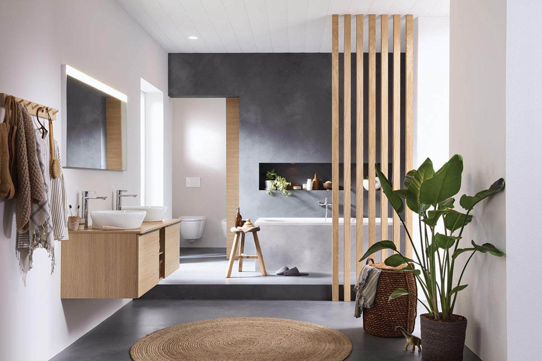 """Holzelemente im Badezimmer """"D-Neo"""" von Duravit"""