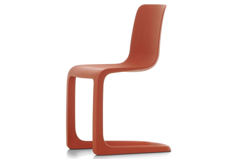 """Stuhl """"EVO-C"""" von Vitra in rot"""