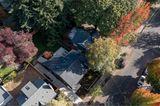 Wohnquartier im Südwesten von Portland von oben