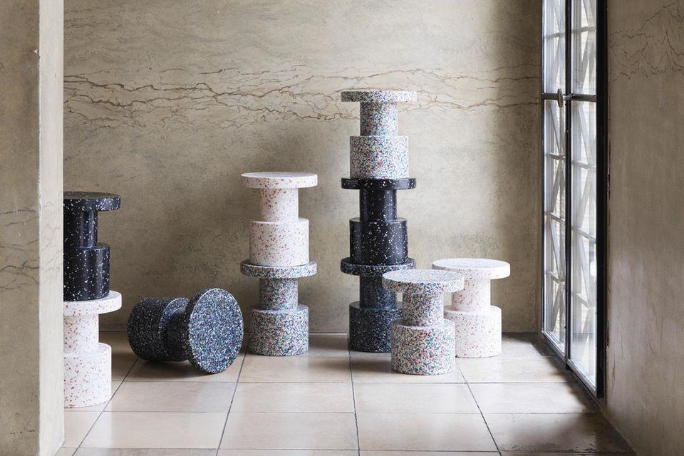 Multifunktionsmöbel aus recyceltem Kunststoff